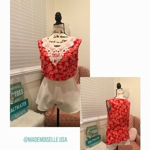 Lacey rose blouse